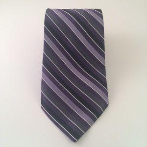 Perry Ellis Purple Black Striped Men's Tie